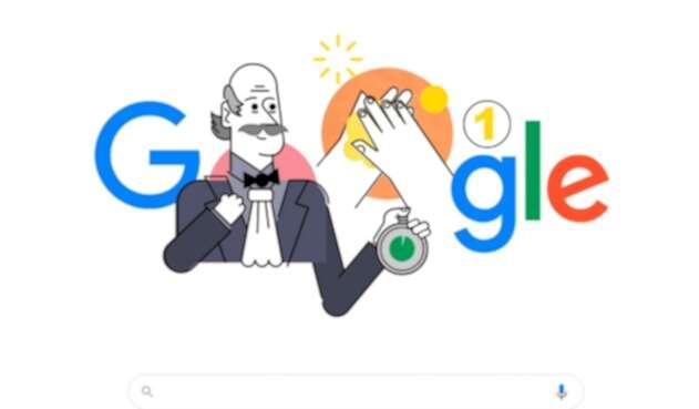 Google doodle sobre lavarse las manos