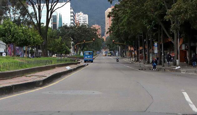 Aislamiento preventivo en Bogotá