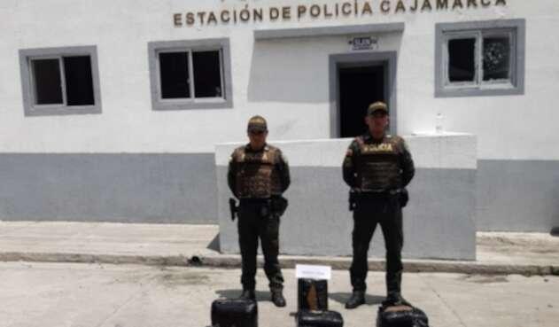 Incautación de marihuana en Cajamarca, Tolima.