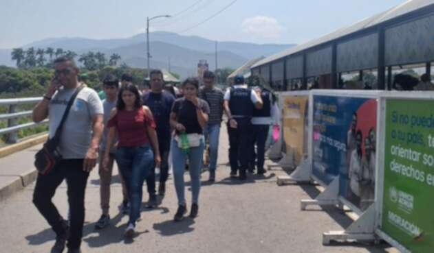 Poblaciòn migrante en zona de frontera de Colombia y Venezuela