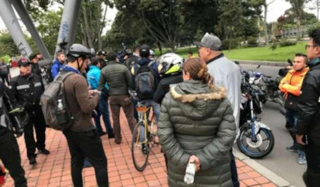 Protesta de motociclistas en Bogotá