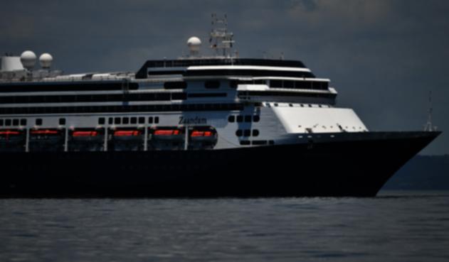 Crucero Zaandam, anclado en Panamá