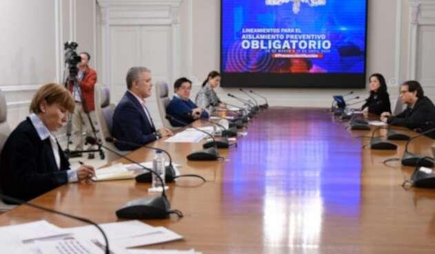 Gabinete ministerial por el coronavirus