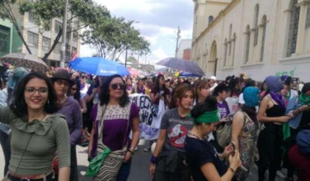 Marcha del día de la mujer en Boogtá