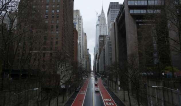 Calles de Nueva York desoladas