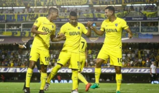 Wilmar Barrios, Frank Fabra y Edwin Cardona en Boca Juniors