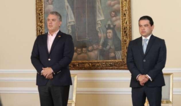 Gobernador Nicolás García y presidente Iván Duque