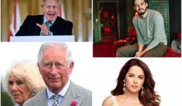 Boris Johnson, el príncipe Carlos, Juan Pablo Villamil y Danna García