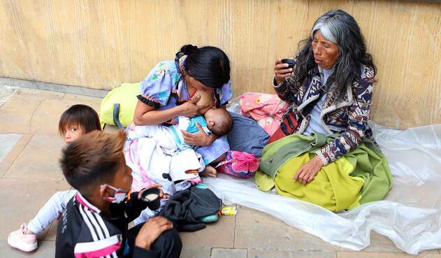 El hambre y el frío son la constante entre los Embera.