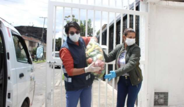 Entrega de mercados durante pandemia