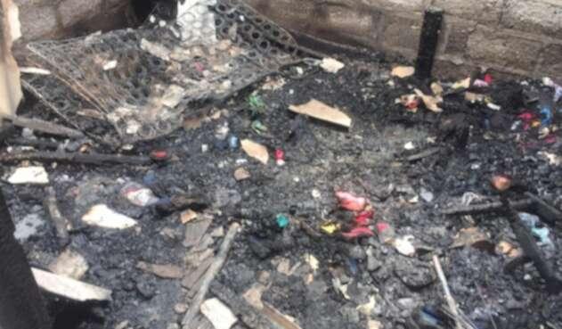 El incendio ocurrió en el barrio Canta Claro.
