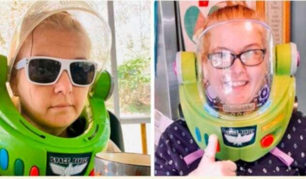 Kelly Hogan Painter, mujer que se disfraza de Buzz Lightgear