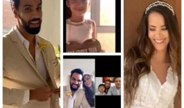 Matrimonio virtual de Laura de León y Salomón Bustamante