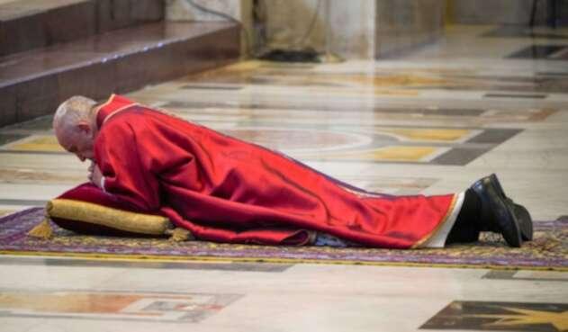 Imagen del Papa Francisco en Viernes Santo
