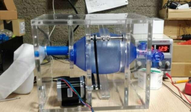 Prototipo de los respiradores artificiales desarrollados en Medellín