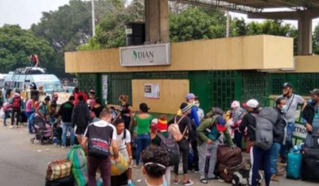 Salida de venezolanos de Colombia