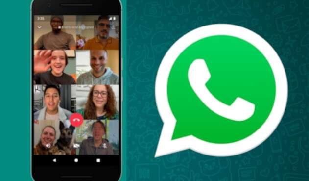 videollamadas de WhatsApp con ocho integrantes
