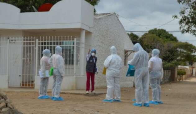 Visitas de personal de la salud a los barrios de Riohacha
