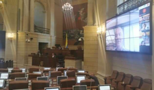 Primera plenaria de la Cámara de Representantes de manera virtual