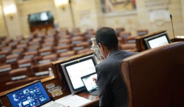 Plenaria virtual de la Cámara de Representantes.