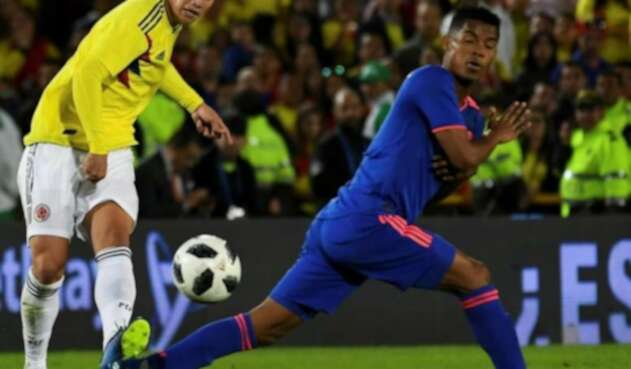 James Rodríguez y Wilmar Barrios - Selección Colombia