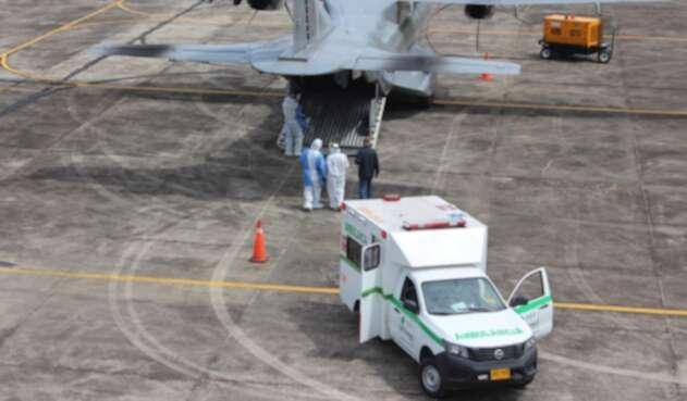 La Fuerza Aérea  Colombiana realiza el traslado
