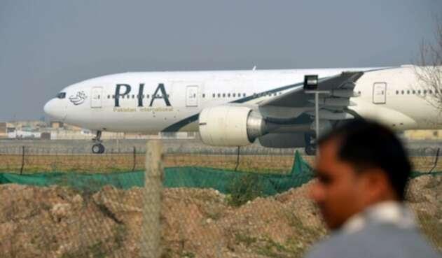 Avión de aerolinea pakistaní