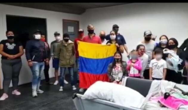 Colombianos varados en Brasil