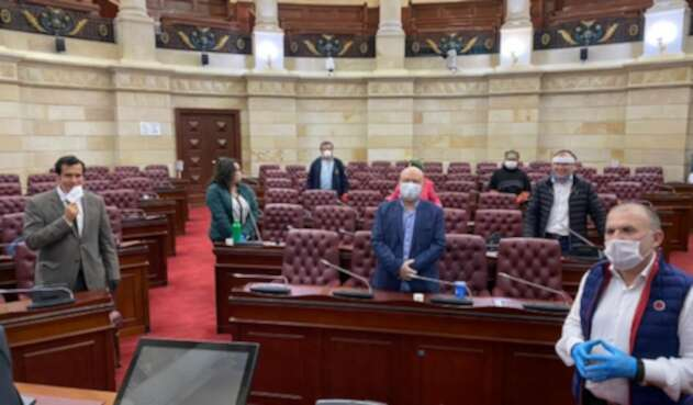 Sesión de la Comisión de Paz, Congreso semipresencial
