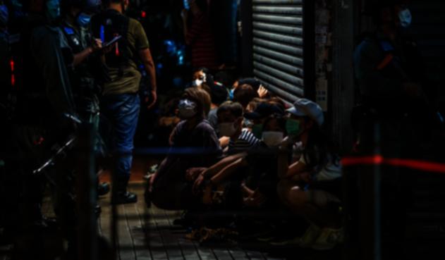 Manifestaciones en Hong Kong en medio de la pandemia