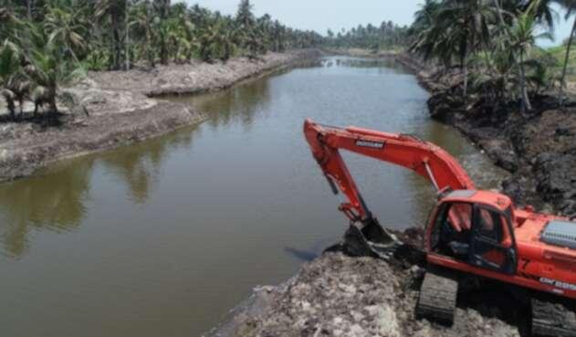 La obra se desarrollaba en la desembocadura del Río Ancho