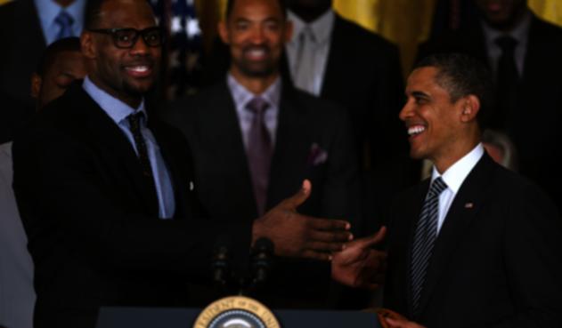 Lebron James junto a Barack Obama
