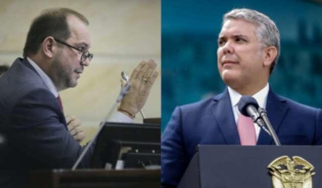 Lidio García e Iván Duque