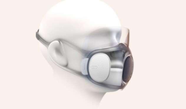 Imágen conceptual de la máscara autodesinfectante de Huami  Aeri