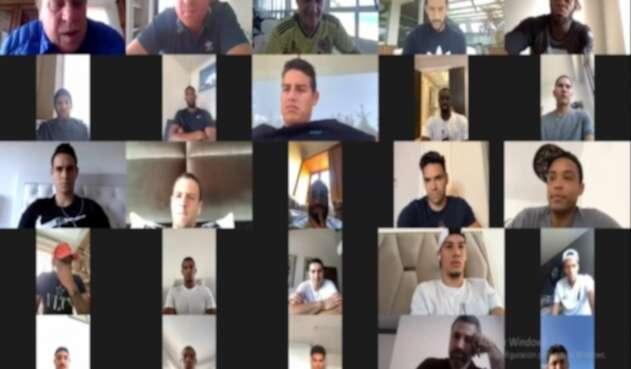 Reunión virtual Selección Colombia