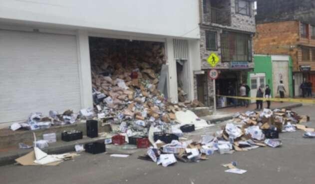 Desplome de piso de supermercado en Ciudad Bolívar