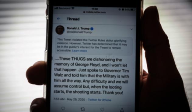 Trino de Trump reportado por Twitter