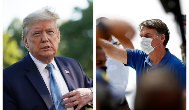 Donald Trump y Jair Bolsonaro han desafiado el coronavirus