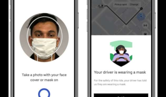 Uber lanza sistema de verificación con tababocas
