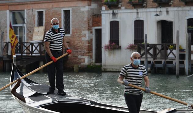 Coronavirus en Italia / Distanciamiento en Venecia