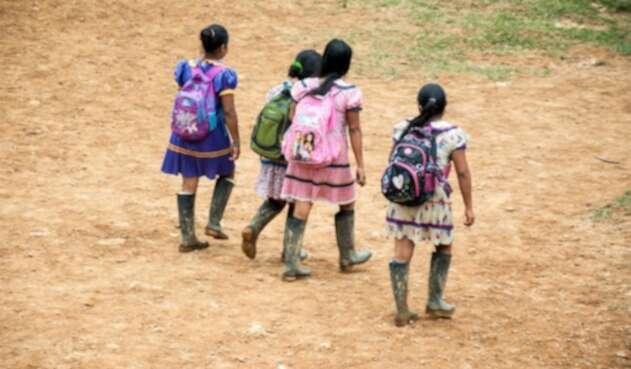 Estudiantes indígenas