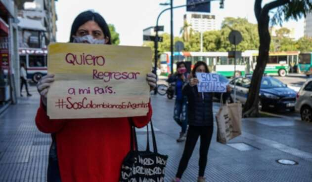 Colombianos en Argentina piden vuelos humanitarios para regresar al país