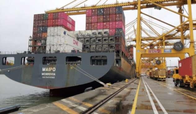Maypo Monrovia, barco de bandera liberiana que transportará los aguacates a China.