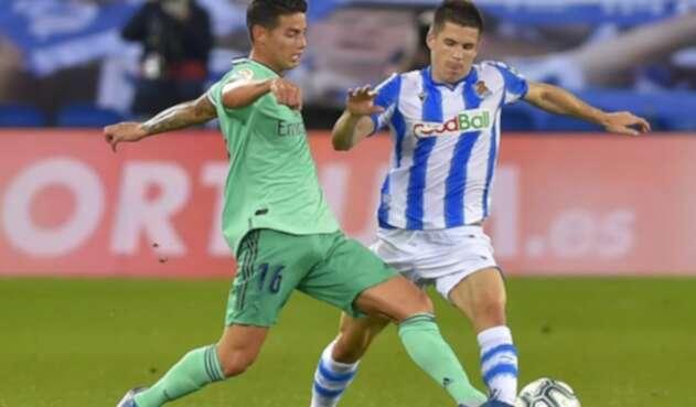 James Rodríguez, Real Sociedad vs Real Madrid - Liga de España