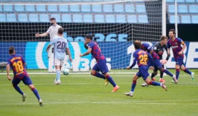 Luis Suárez jugando con el Barcelona