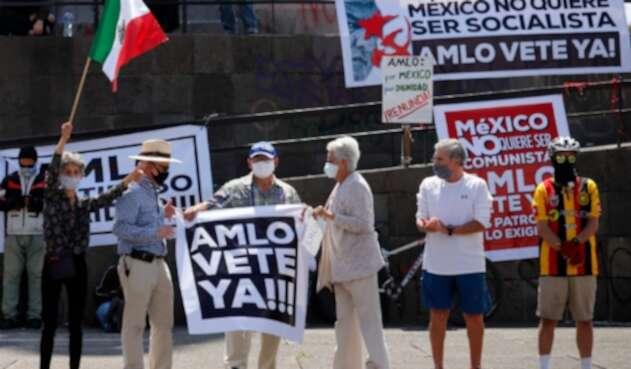 Protesta en México contra Andrés López Obrador