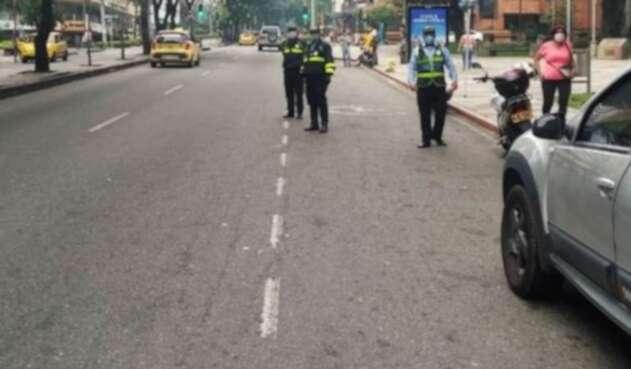 Coronavirus en Bucaramanga / controles de la Policía