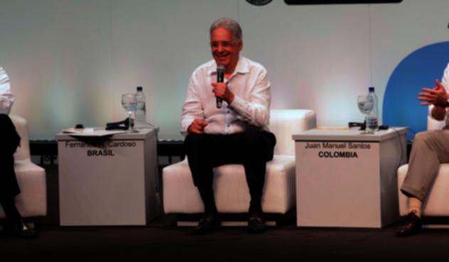 Ricardo Lagos, Fernando Henrique Cardoso y Juan Manuel Santos
