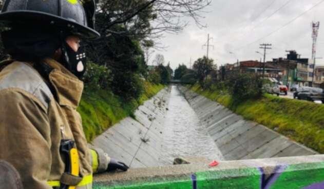 Rescate de Bomberos en Bogotá