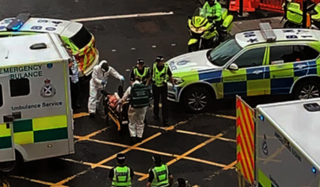 Ataque con cuchillo en Glasgow, Escocia